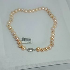 NWT Canadian Pink Gem Pearl Necklace